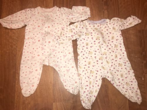 Lot Of 2 Infant Girls Small Wonders Lightweight Footed Sleepers Size 3-6 Months