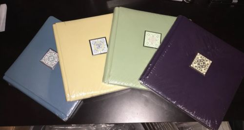 Rare SET Creative Memories 12 x 12 Old size Kaleidoscope Green blue yellow album