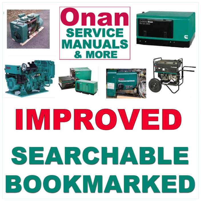 Onan P216 P218 P220 P224 Engine Service Repair Manual: For Sale Classifieds