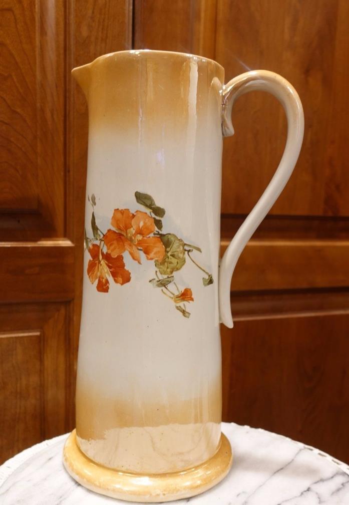 Beautiful Large Antique Porcelain  Pitcher12.5