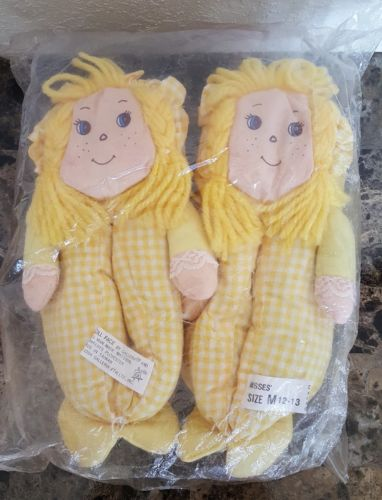 RARE Vintage 1984 Doll Face slippers by Galleria. Brand New. Size Youth M 12-13
