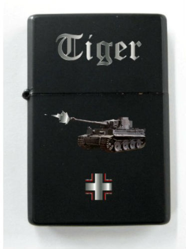 German Tiger Tank Panzer Battle War Front Iron Cross Black Lighter Elite Unit