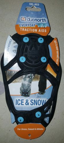 Duenorth Ice And Snow Everyday Traction Shoe Aids  (SML-MED)+ 2 Free Spikes
