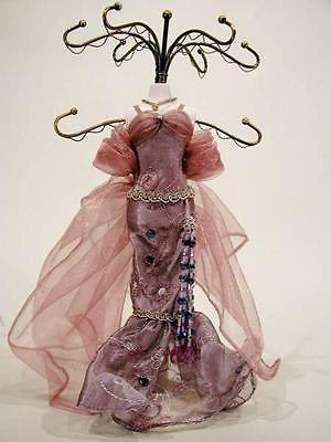 Jewelry Organizer, Victorian Jewel Mannequin-PLUM