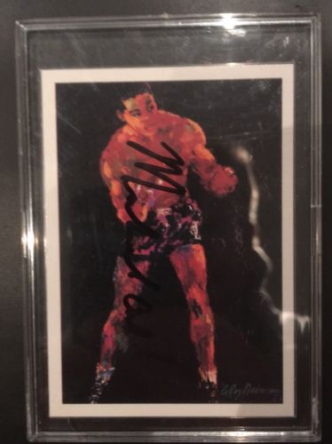 "Muhammad Ali Boxing Card Rare Signed/autograph ""classic"" Goat"