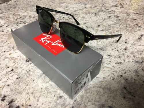 Ray-Ban RB3016 Clubmaster Classic Sunglasses Black Gold & Special Edition Case
