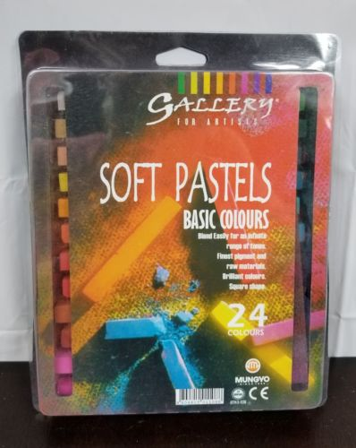 Mungyo Gallery Soft Oil Pastels for Artists Premium 24 Colors Drawing Basic