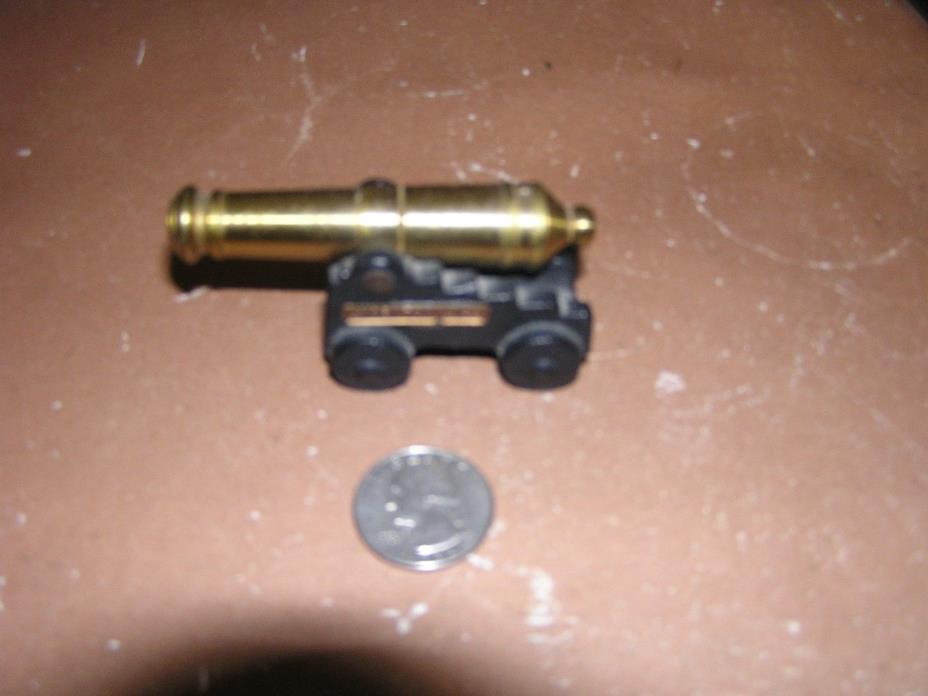 Cannon - Yorktown, VA - Miniature Antique Toy - Black Cast Iron and Brass