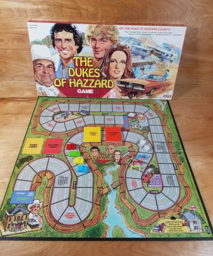 Vintage 1981 Ideal Toy Corporation DUKES OF HAZZARD Board Game