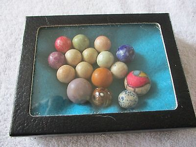 Antique Marbles Lot Of 16