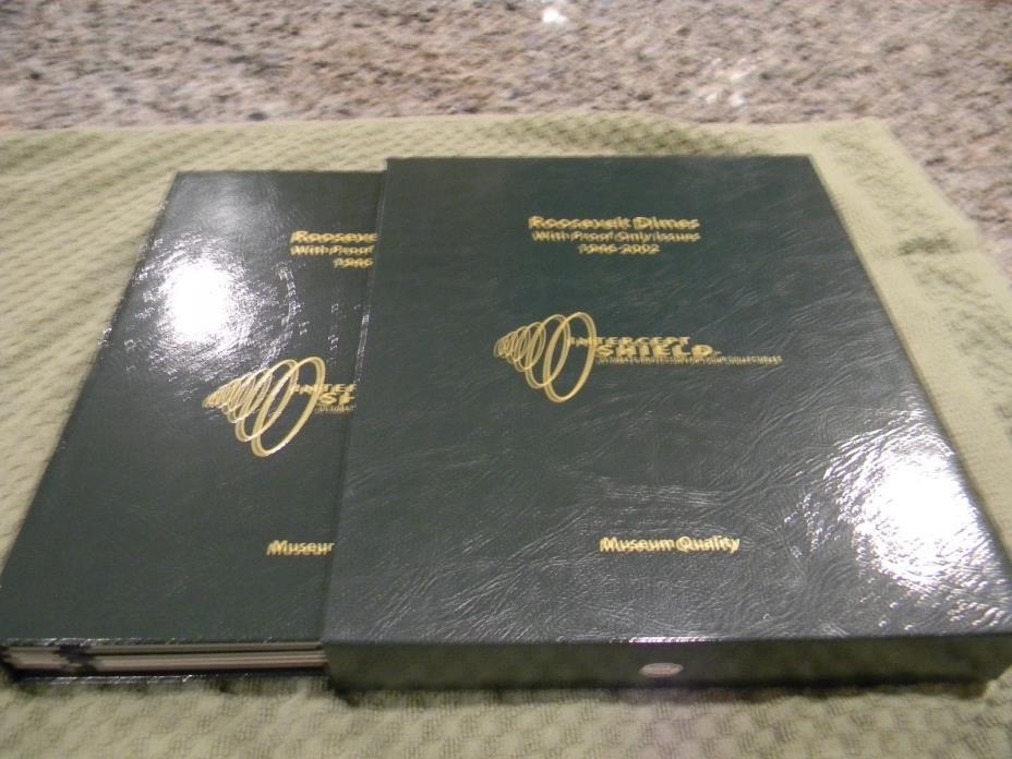ROOSEVELT DIME INTERCEPT SHIELD ALBUM - 1946 to 2002 - NO COINS