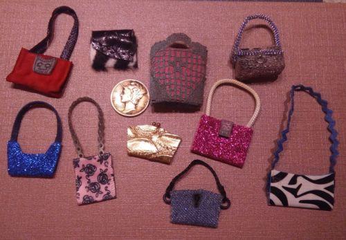 miniature handmade bags 1:12 dollhouse fashion accessories #6