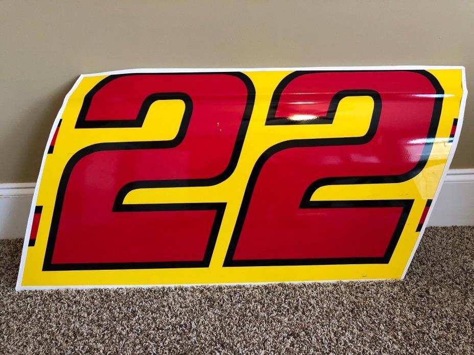 Joey Logano 2017 NASCAR race used sheet metal door panel