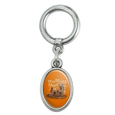 Laughing Hyena Shoe Sneaker Shoelace Oval Charm Jewelry