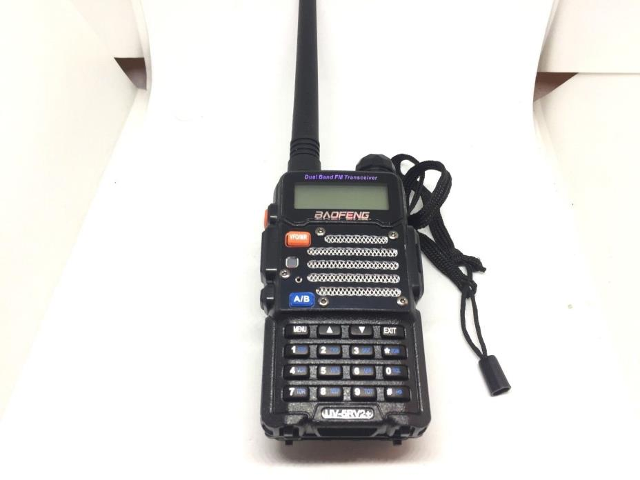 Baofeng uv-5r v2+ Two-Way FM Radio U/VHF Used