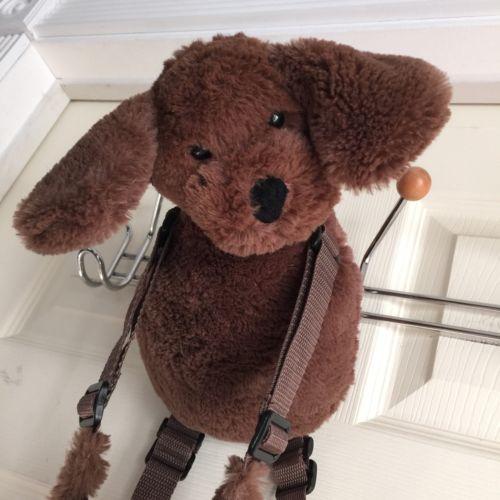 Eddie Bauer brown plush stuffed puppy dog toddler child safety harness restraint