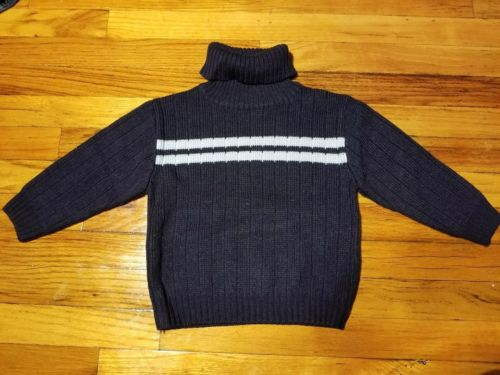 Charles Klein Toddler Boy Turtleneck Navy Blue Knit Sweater 3T