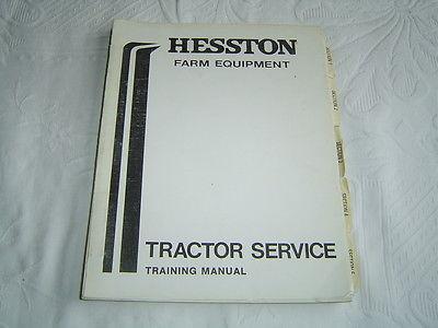 Fiat Hesston 90 66 series tractor service school training manual