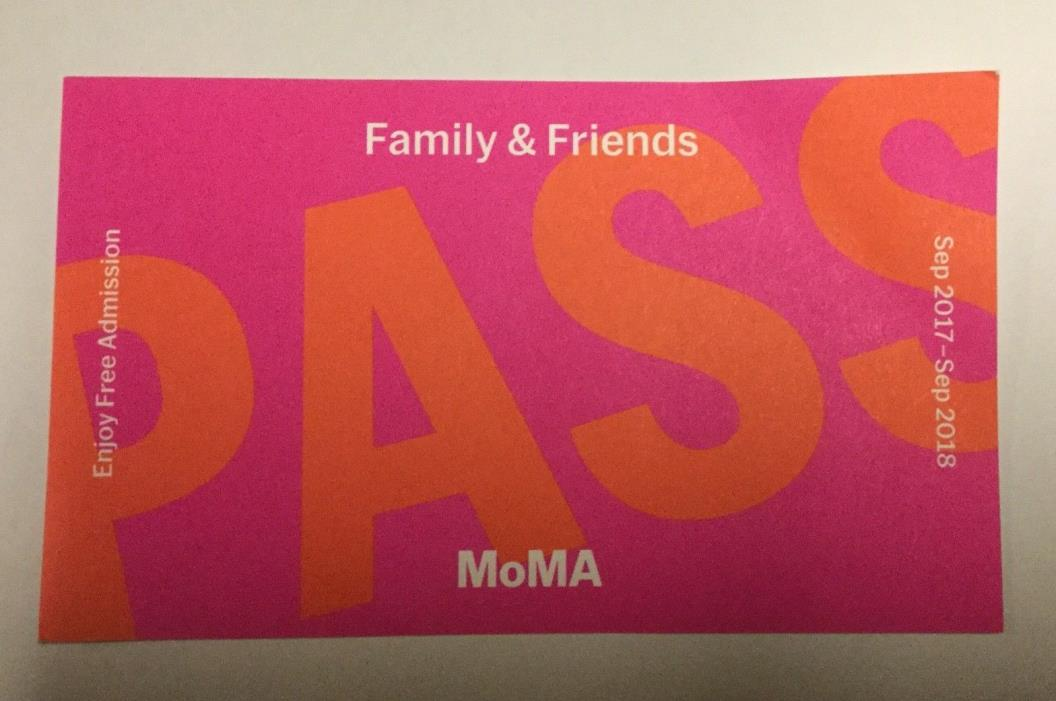 MoMA ~Museum of Modern Art~ New York City ~Pass 5 Tickets ~Expires 09/18~ $125
