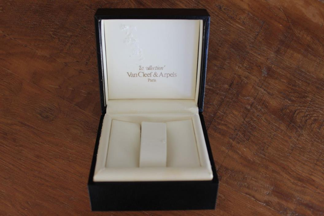 Van Cleef & Arpels Black Leather Empty Watch Box Only la collection