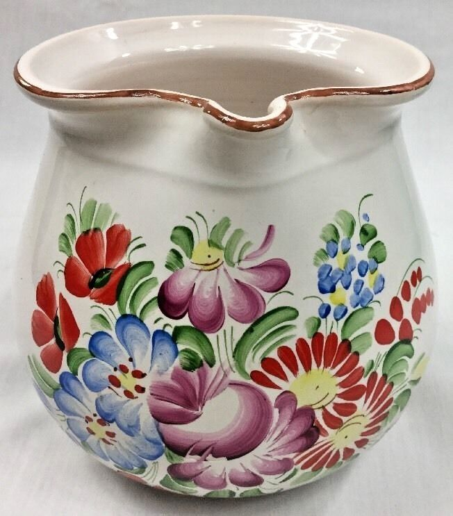 Vintage/Antique Czechoslovakia Chodovia Domazlice Hand Painted Water Pitcher