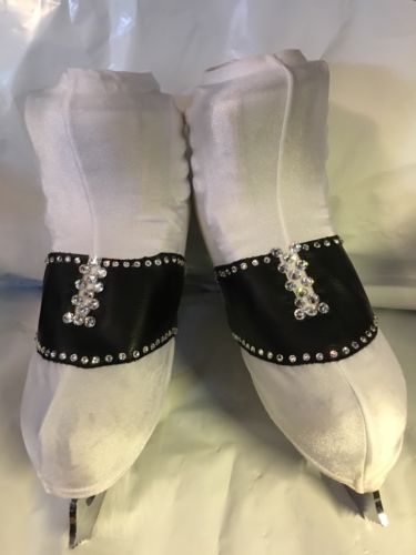 Adult Mondor Saddle Shoe Ice Skate Covers With Swarovski Crystal Rhinestones