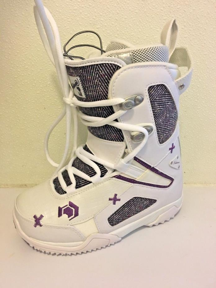 Northwave Freedom White and Purple Snowboard Boot - 5.5