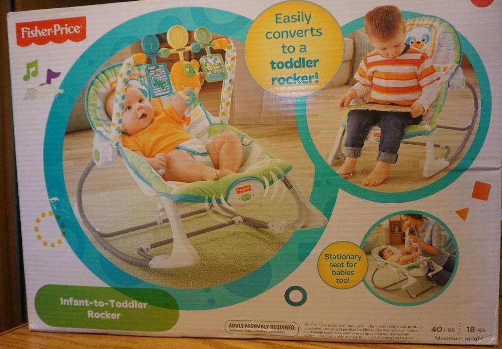 NEW FISHER PRICE INFANT-TODDLER ROCKER MUSIC BEAR ELEPHANT TURTLE UP TO 40 LBS