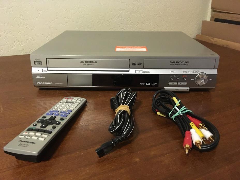 Panasonic DMR-ES40V VHS DVD Recorder Transfer Dubbing Tuner w/ REMOTE & CORDS