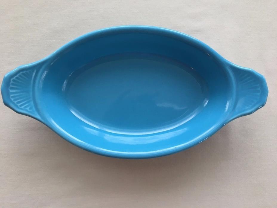 Bel-Terr USA Turquoise Blue Gratin Dish 9528 Mid Century Modern