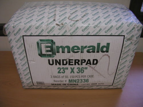 Emerald Disposable Underpads 23x36 150 Per Case MN2336