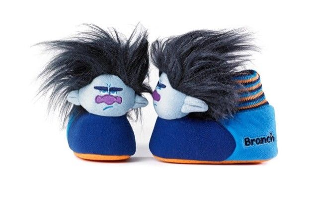 Trolls Movie Branch Boys Sock Top Slippers (Toddler/Little Kid) 3TLF205