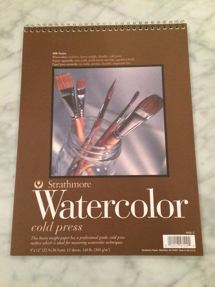 Strathmore 400 Series Cold Press 140 lb. 10-Sheet Watercolor Paper Pad, 9 x 12