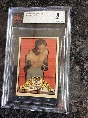 NM-MT BVG 8 Topps Ringside MAX BAER SMR Value $175.00