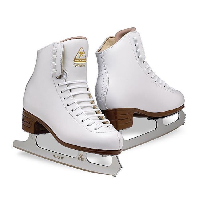 Jackson Ultima Ice Skates Artiste JS1790 / Width B Size 9.0, Color: White