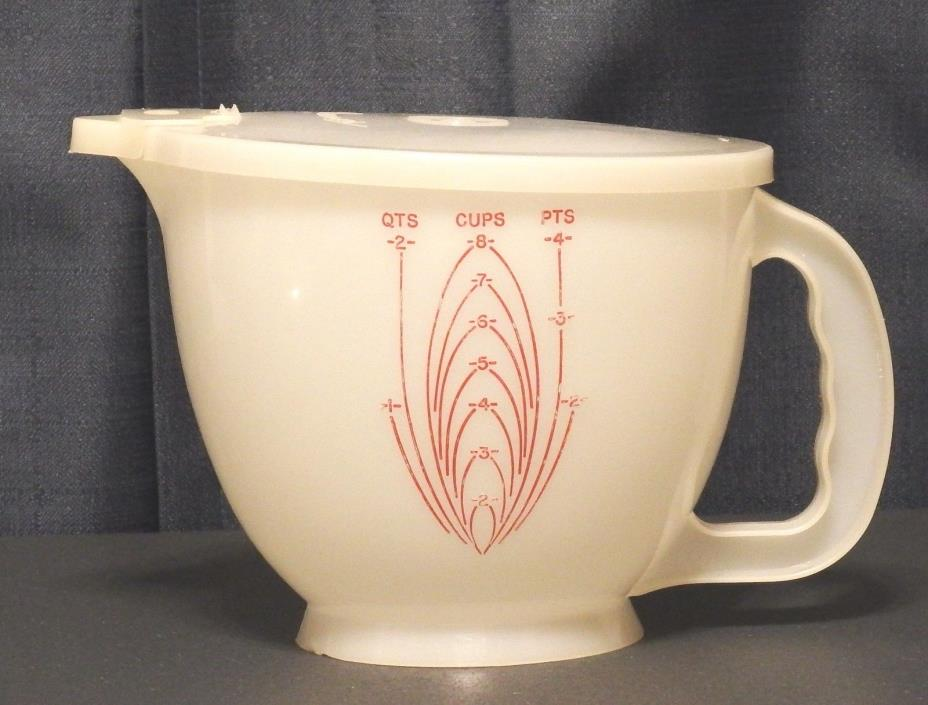 VINTAGE TUPPERWARE MIX N STOR 8 CUP BATTER BOWL MEASURING CUP