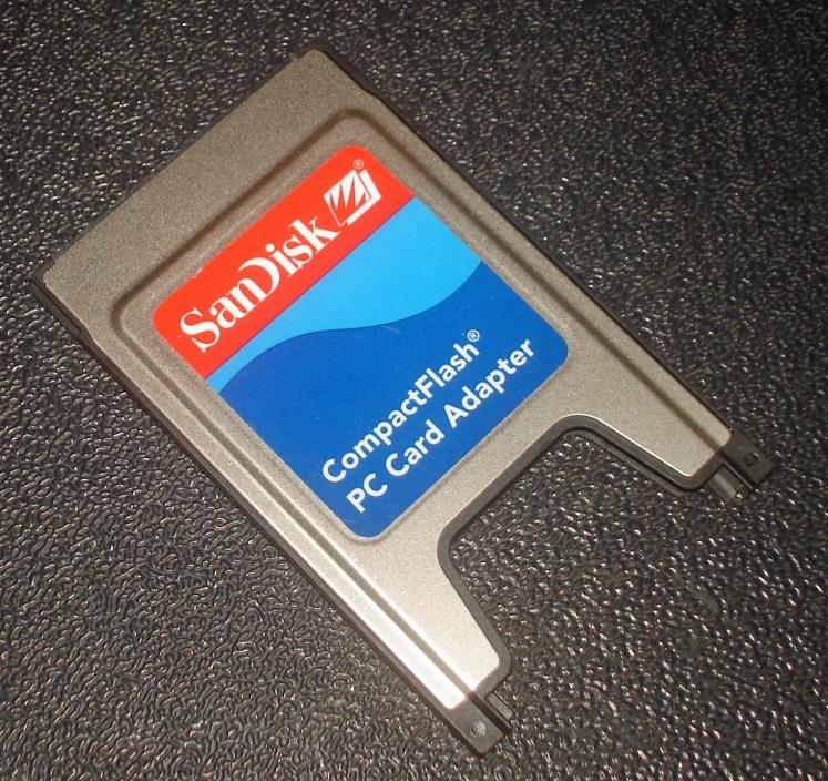 SanDisk Compact Flash CF to PC Card Adapter SDAD-38-A10 CompactFlash