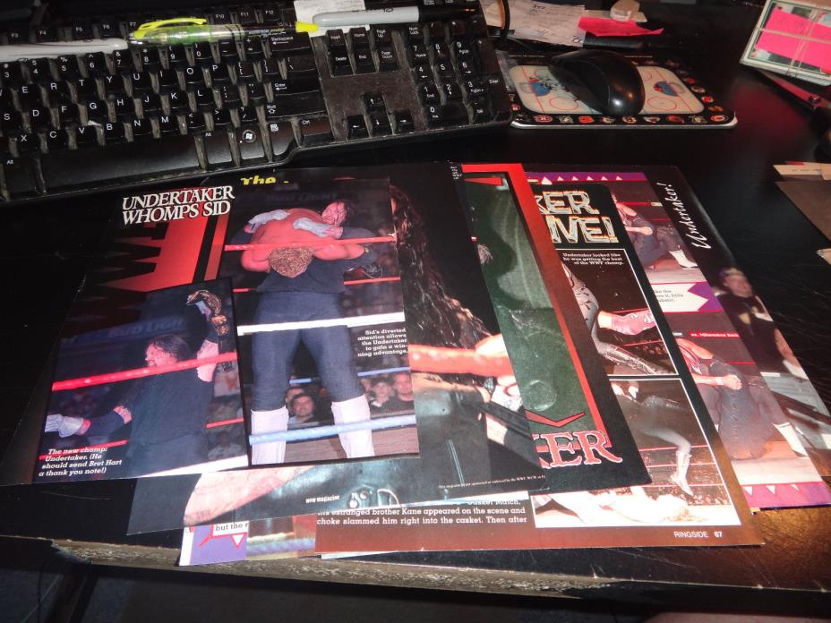 the undertaker Wrestling Photos pictures pin-up lot of 50 +- wwf uswa wcw