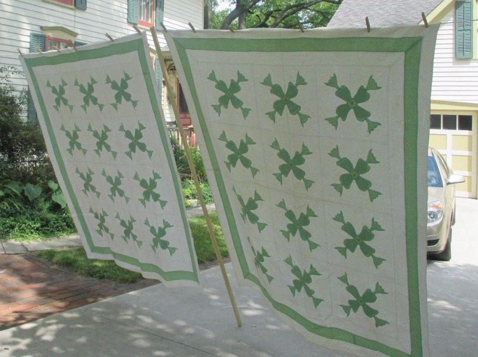 Two Vintage Quilts Circa 1920s-30s MASTERFULLY Hand-Quilted