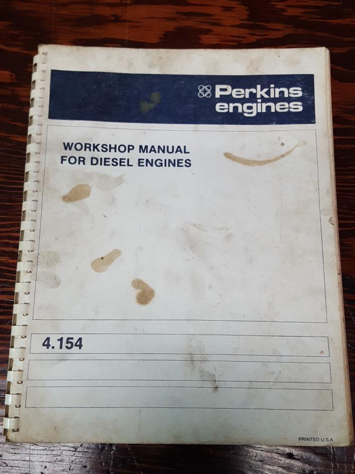 Perkins 4.154 Diesel Engines Workshop Manual