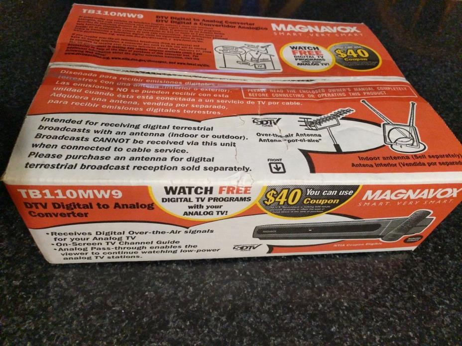 Brand New Magnavox TB110MW9 DTV Digital to Analog Convertor Box