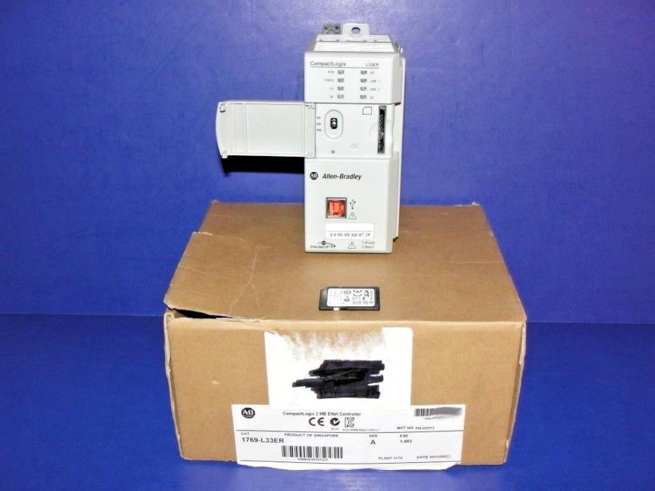 2015 NEW IN ORIGINAL BOX Allen Bradley 1769-L33ER /A CompactLogix Processor