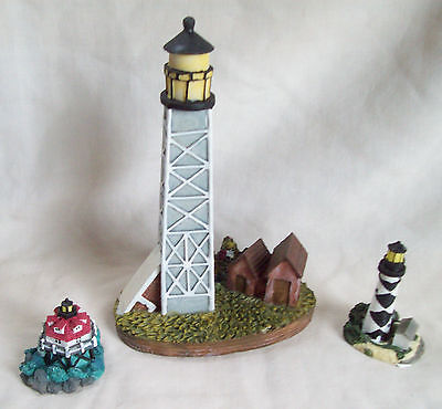 3 Resin Lighthouse Figurines 7
