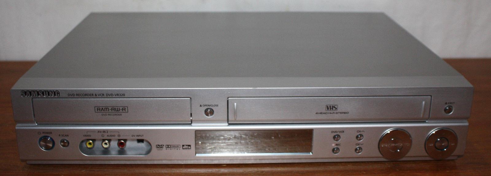 BROKEN - Samsung Combo VCR & DVD Recorder DVD-VR320, VHS Tape Player