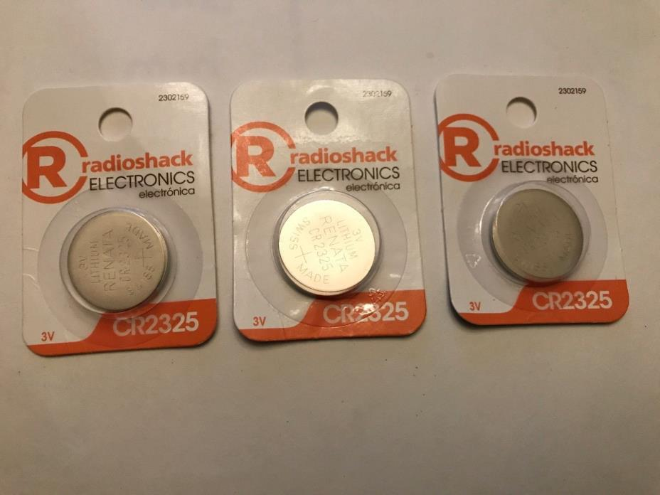(Lot of 3) RADIO SHACK 2302159 CR2325  WATCH BATTERY  free shipping