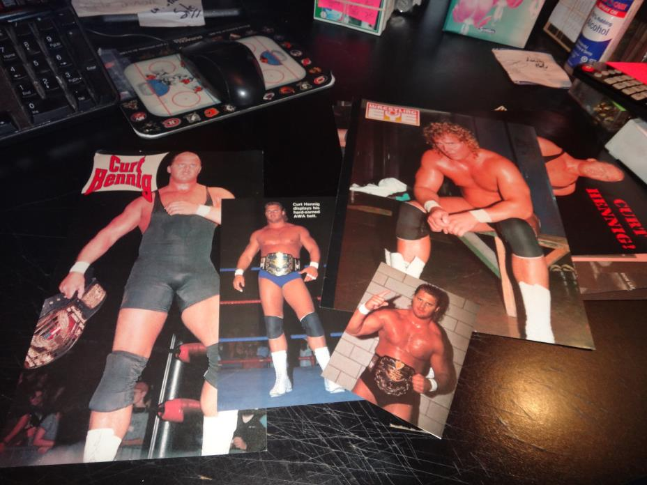 mr perfect curt henning Wrestling Photos pictures pin-up lot of 67 +- wwf awa