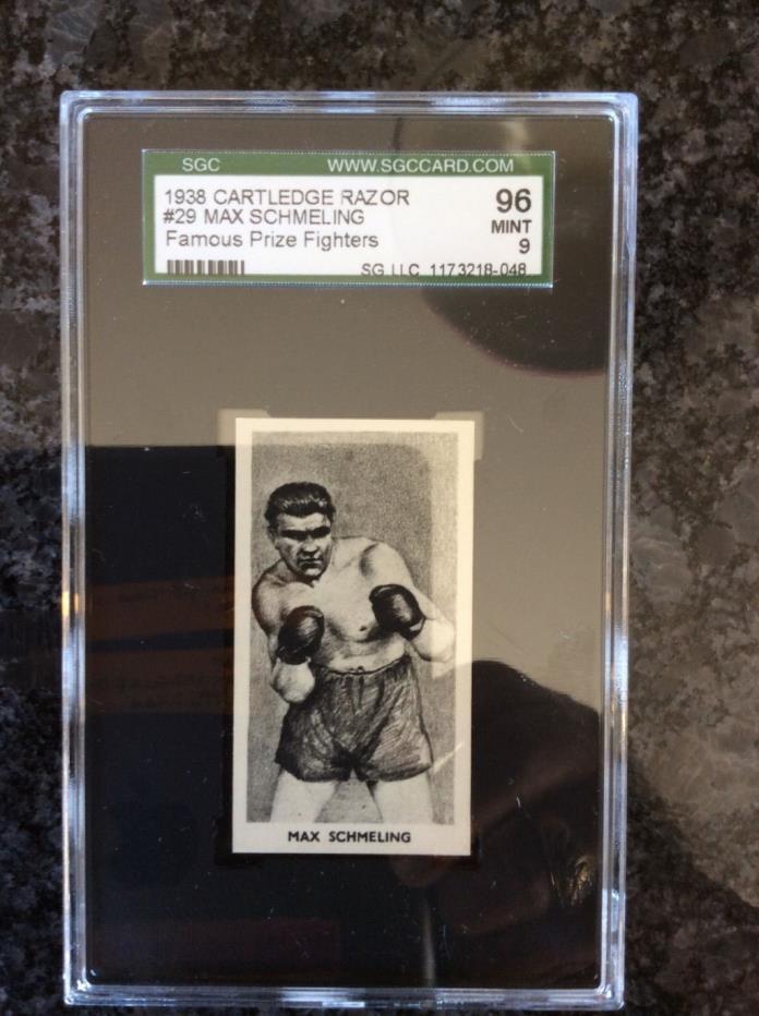 MINT 1938 MAX SCHMELING Cartledge Razor Graded SCG 9!!!!!!!
