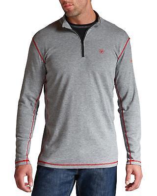 Ariat Men's Flame Resistant Polartec 1/4 Zip Baselayer Shirt Big And Tall -