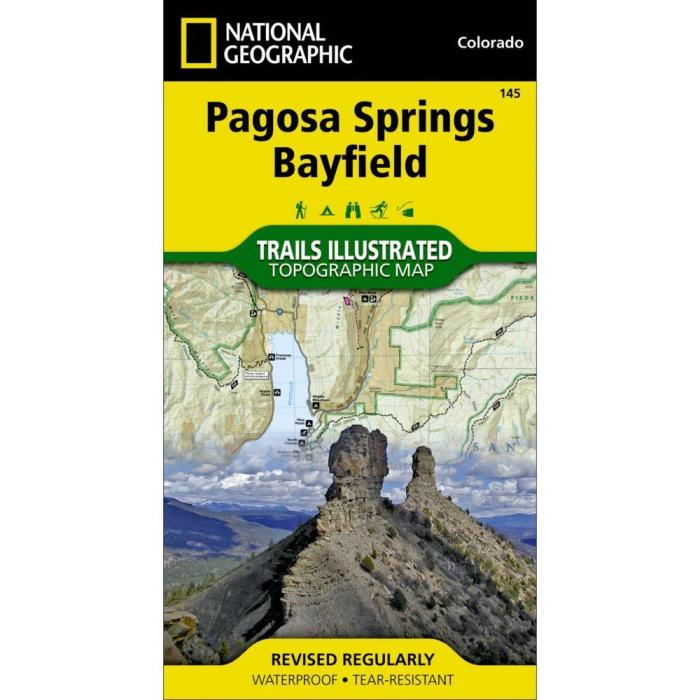 National Geographic Pagosa Springs Bayfield Trails Illus Topo Map -CO- Map # 145