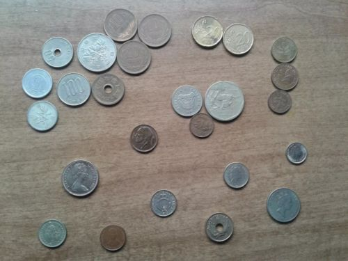 foreign world COINS mixed lot coin collection money currency MANY COUNTRIES